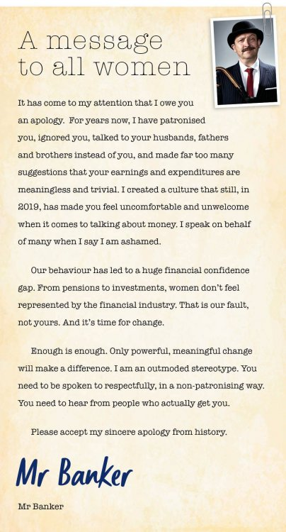 letter from NatWest to women