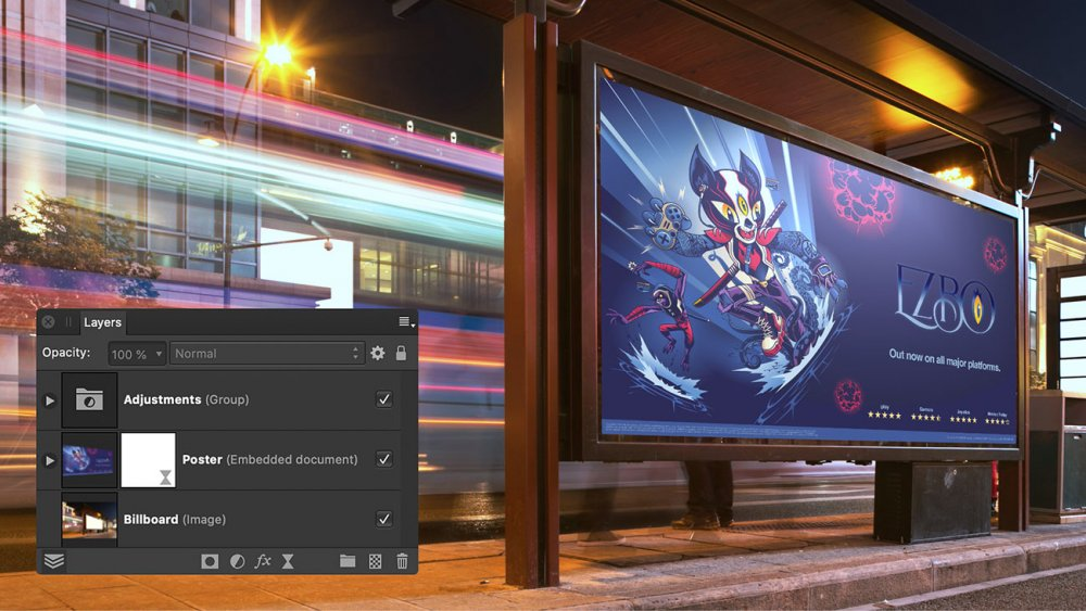 Affinity Photo smart object support