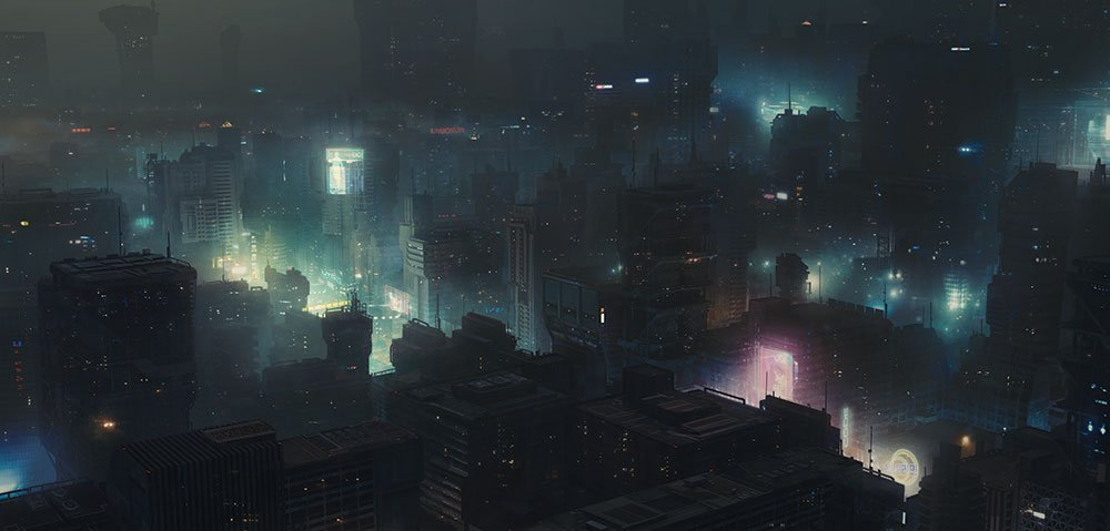 City scene from Blade Runner 2049