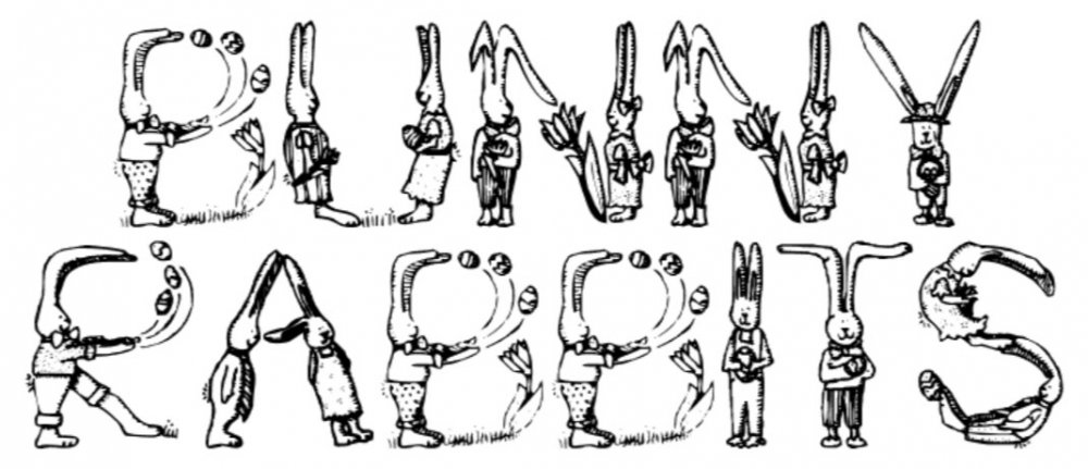 8 free Easter fonts: Bunny Rabbits