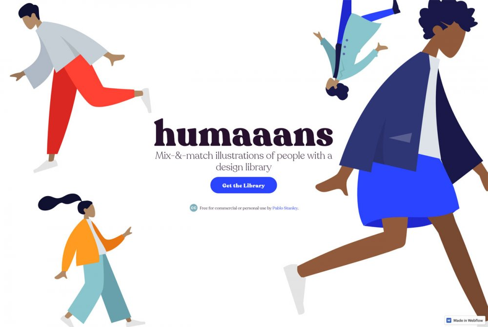 Free design resources: Humaaans