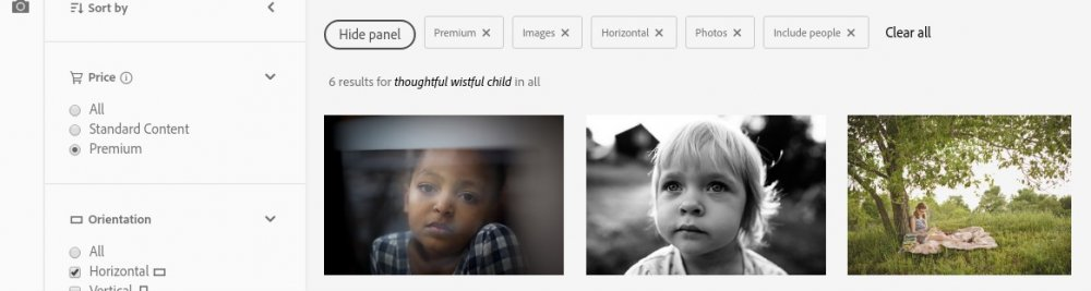 Search results for 'Wistful thoughtful child'