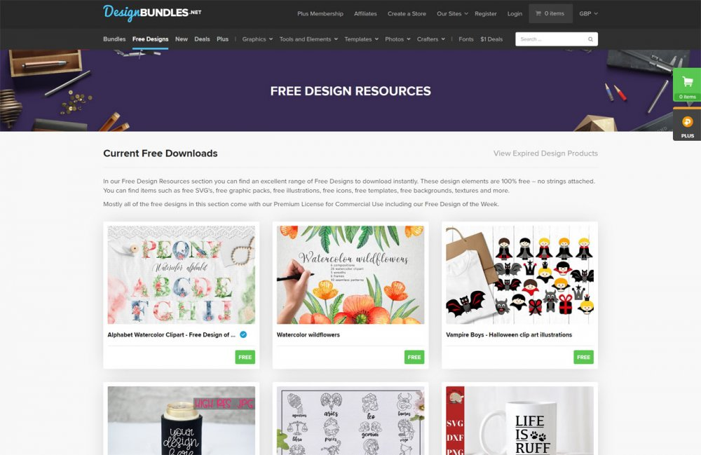 Free design resources: DesignBundles