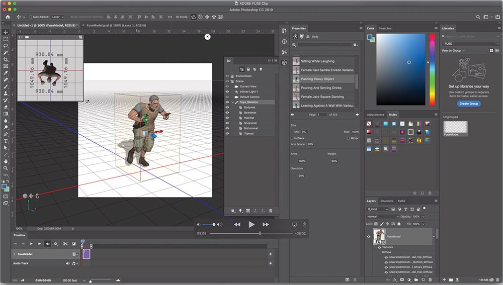Adobe Fuse: Integrate with Photoshop