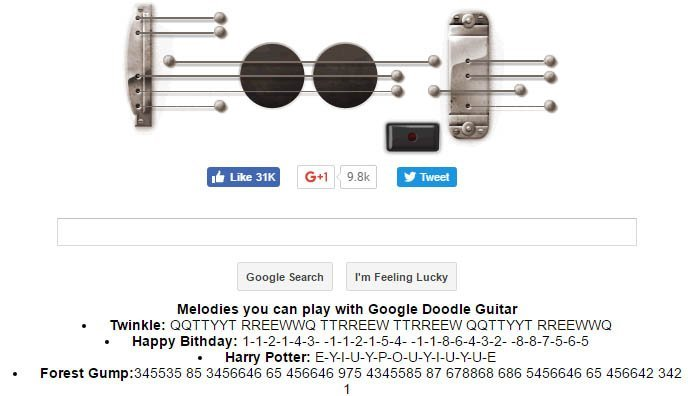 Google Guitar - New Google Tricks: 40 Hidden Cool Google Search Tricks For Fun - Updated 2017