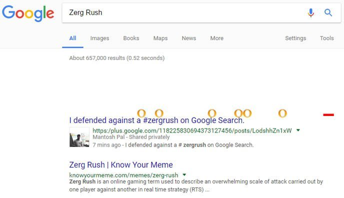 Zerg Rush - New Google Tricks: 40 Hidden Cool Google Search Tricks For Fun - Updated 2017